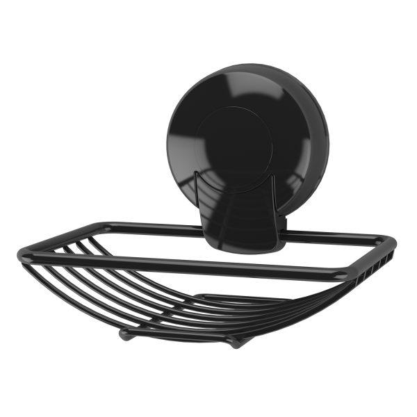 Suctionloc Soap Basket Black