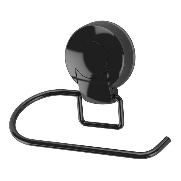 Suctionloc Toilet Roll Holder Black